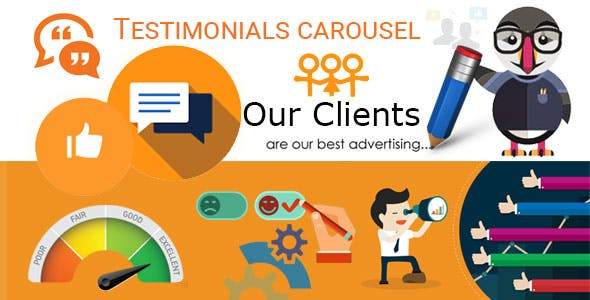 Testimonials carousel with avatars, reviews Module for Prestashop