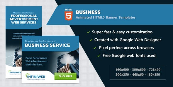 Business Banners - HTML5 Animated Ad Templates GWD