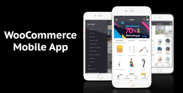 WooCommerce Mobile App ionic full application Lifestyle theme by