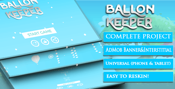 Ballon Keeper + Template Buildbox + Android studoi + admob