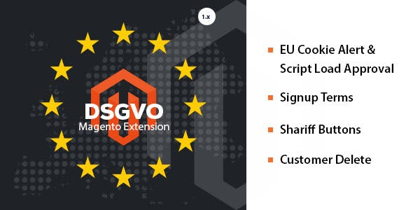 DSGVO / GDPR 4 in 1 Magento 1.9 Extension