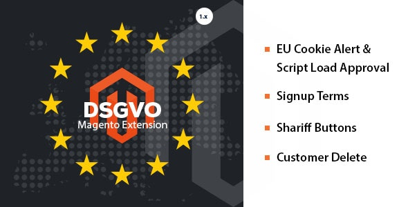 DSGVO / GDPR 4 in 1 Magento 1.9 Extension - CodeCanyon Item for Sale