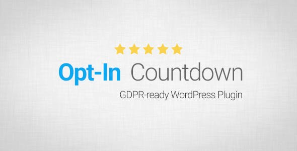 Opt-In Countdown - CodeCanyon Item for Sale