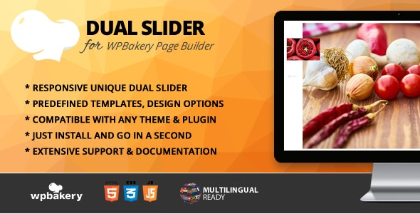 Dual Slider Addon for WPBakery Page Builder (formerly Visual Composer) - CodeCanyon Item for Sale
