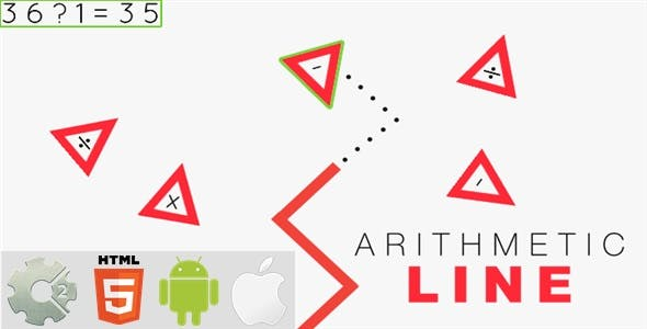 Arithmetic Line - HTML5 Game + Mobile Version! (Construct-2 CAPX)