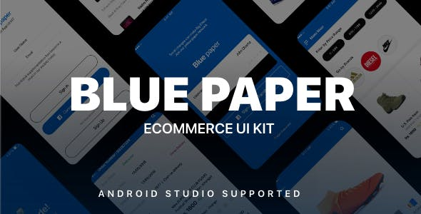 Blue Paper Ecommerce UI KIT