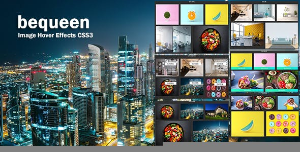 bequeen - CSS3 Image Hover Effects