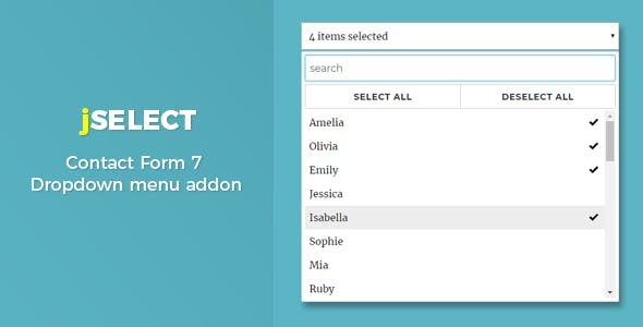 Contact Form 7 – jSelect dropdown menu