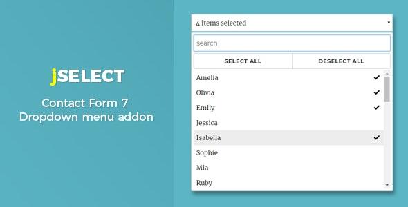 Contact Form 7 – jSelect dropdown menu - CodeCanyon Item for Sale
