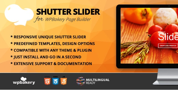 Shutter Slider Addon for WPBakery Page Builder (formerly Visual Composer) - CodeCanyon Item for Sale
