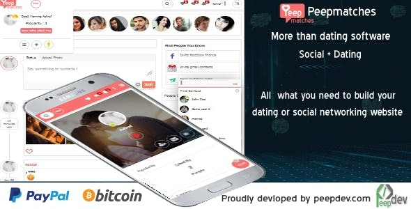 Peepmatches - The ultimate php dating and social script