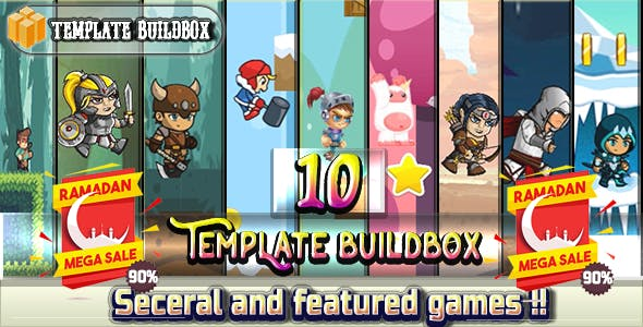 Super Mega Bundle 2018 - 10 Games - template Buildbox