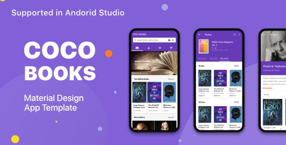 Coco Book Material Design UI KIT