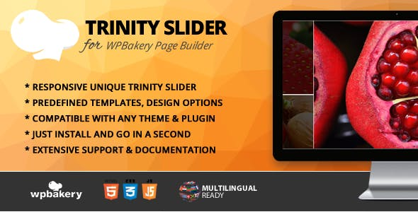 Trinity Slider Addon for WPBakery Page Builder (formerly Visual Composer)