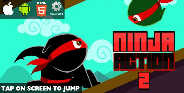 Ninja Action 2 - HTML5 Game (CAPX)