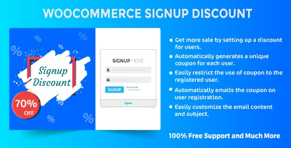 Woocommerce Signup Discount - CodeCanyon Item for Sale