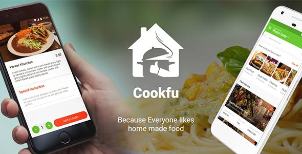 Food Ordering app with Delivery + Restaurant Android App Template | Cookfu (XML Code)
