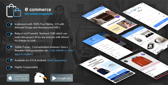 E-Commerce Android Native App with Powerful Cloud Backend