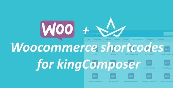 WooCommerce shortcodes for kingComposer - CodeCanyon Item for Sale