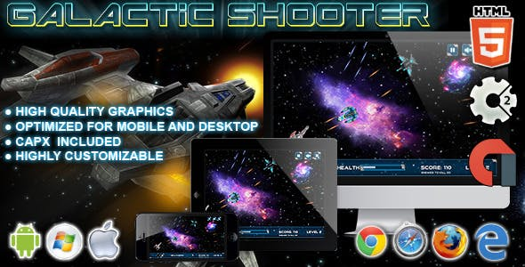 Galactic Shooter - HTML5 Construct 2 Game