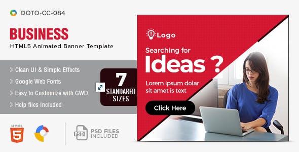 Multi Purpose HTML5 Banners - 7 Sizes