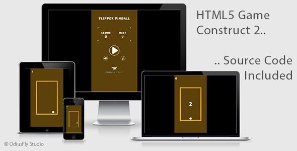 Flipper Pinball - HTML5 Game (Construct 2)