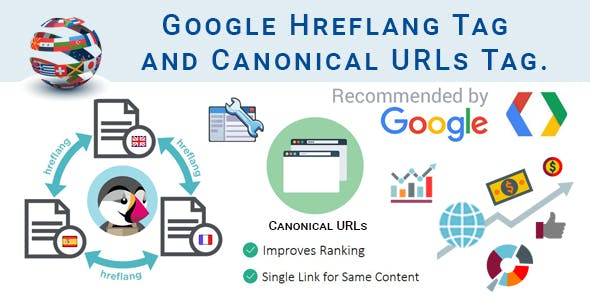Google Hreflang Tag and Canonical URLs Tag Integration to PrestaShop