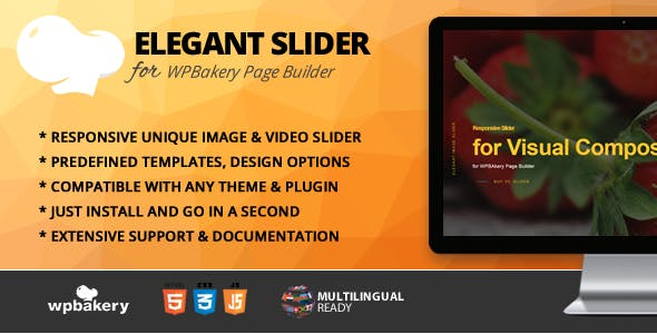 Elegant Slider Addon for WPBakery Page Builder (formerly Visual Composer)