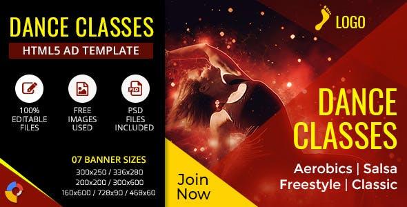 GWD | Dance Classes Ad Banner - 7 Sizes