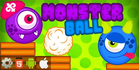 Monster Ball - HTML5 Game + Mobile Version! (Construct-2 CAPX)