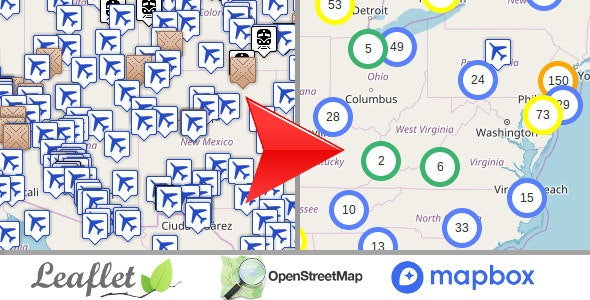 Leaflet OpenStreetMap, Multi-Purpose server side markers clustering php script v1.3 - CodeCanyon Item for Sale