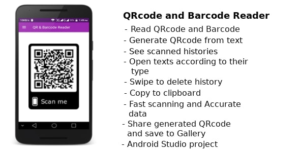 Barcode and QRcode Reader - Create easy QRcode by Kunjo