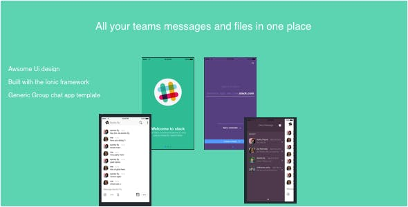 ionic Slack ( Template Version)