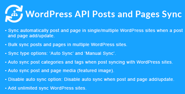 WordPress API Posts and Pages Sync with Multiple WordPress Sites - CodeCanyon Item for Sale