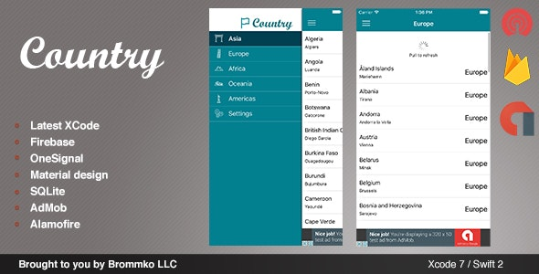 Country - Full iOS template app written in Swift - CodeCanyon Item for Sale