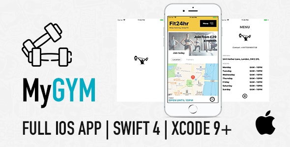 MyGym - Fitness Gym App for Coaches, Trainers and PT Classes Created With Swift 4 in Xcode - CodeCanyon Item for Sale