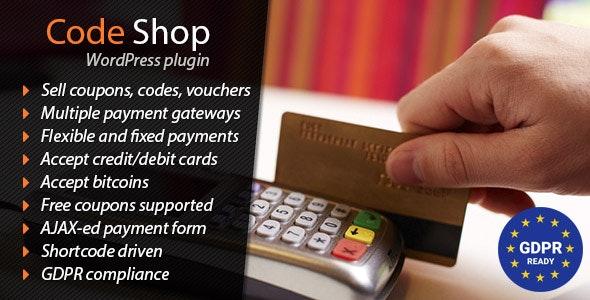 Code Shop - WordPress Plugin - CodeCanyon Item for Sale