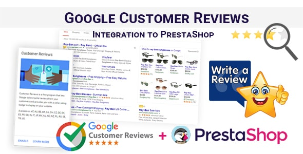 Google Customer Reviews Integration to PrestaShop - CodeCanyon Item for Sale