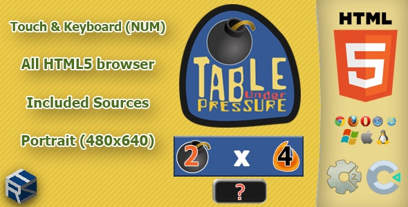 Table under pressure - HTML5 Math game - CodeCanyon Item for Sale