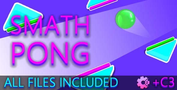 Smath Pong (C2 + C3 + HTML) Game!