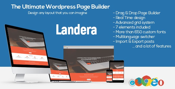 Landera - WordPress Page Builder - CodeCanyon Item for Sale