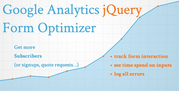 Google Analytics jQuery Form Optimizer - CodeCanyon Item for Sale