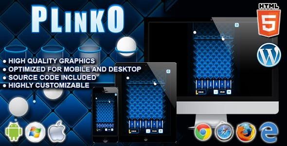 Plinko - HTML5 Casino Game