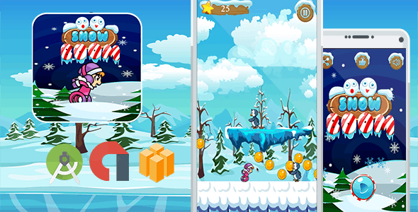 Snow Boom Eskimo Run & Template Buildbox + AdMob