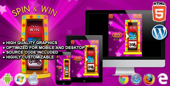 Spin & Win - HTML5 Instant Win Game