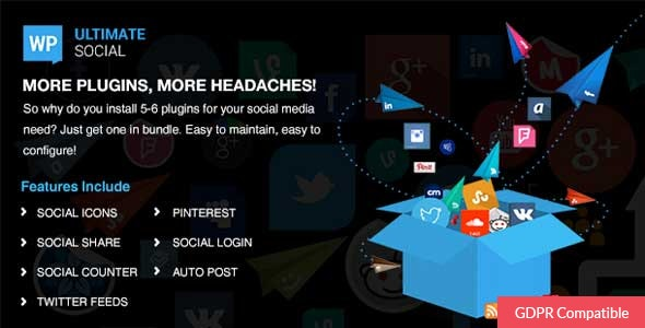 WP Ultimate Social - All in One Social Features' Collection WordPress Plugin - CodeCanyon Item for Sale