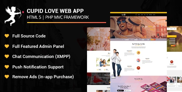Cupid Love Dating Web Application - CodeCanyon Item for Sale
