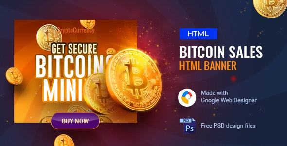 Cryptocurrency Ad Banner 01 by WordPress-Studio | CodeCanyon