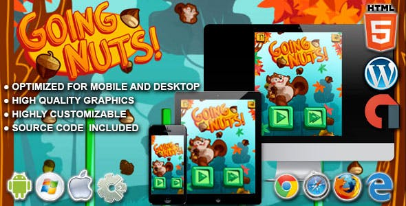 Going Nuts  - HTML5 Construct Physics Game