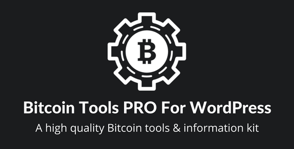 Bitcoin Tools PRO For WordPress - CodeCanyon Item for Sale